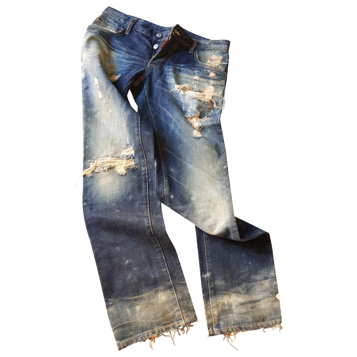 Dsquared2 \N Blue Cotton Jeans for Men 33 US