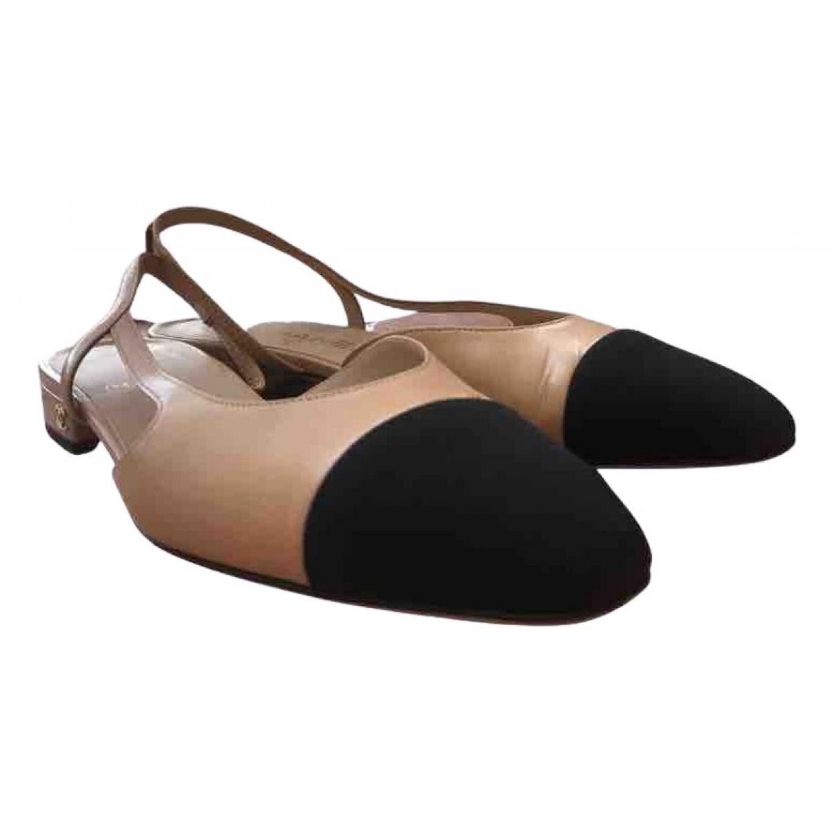 Bailarinas Slingback de Cuero Chanel