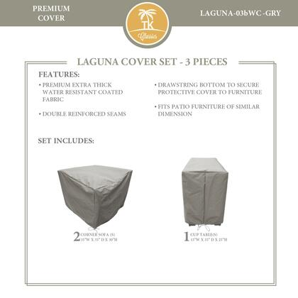 LAGUNA-03bWC-GRY Protective Cover Set  for LAGUNA-03b in
