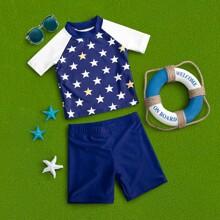 Toddler Boys Star Print Swimsuit