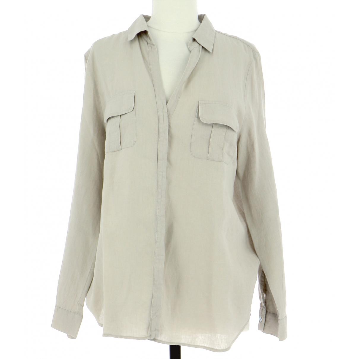 Gerard Darel - Chemises   pour homme en lin - beige