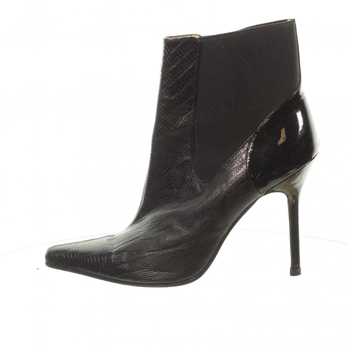 D&g - Boots   pour femme en cuir - noir
