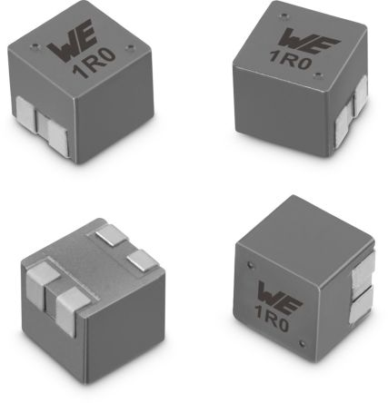 Wurth Elektronik WE-MCRI, SMT Shielded Wire-wound SMD Inductor with a Composite Iron Powder Core, 10 μH ±20% Moulded 3.7A Idc (800)