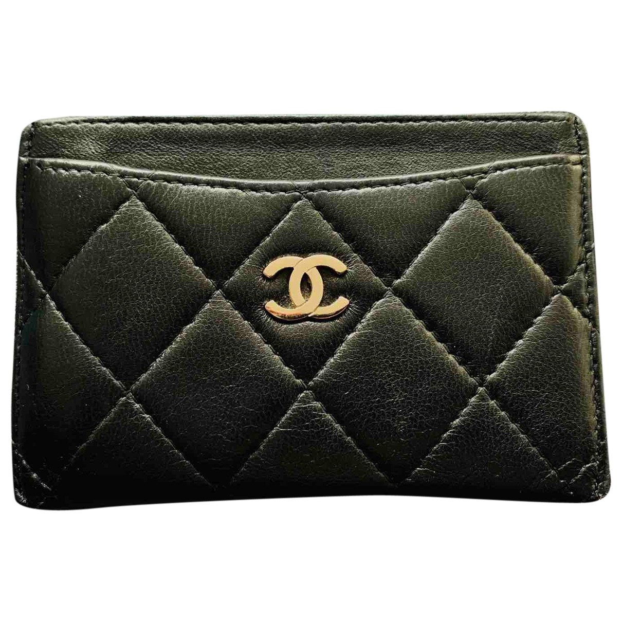 Chanel Timeless/Classique Kleinlederwaren in  Schwarz Leder