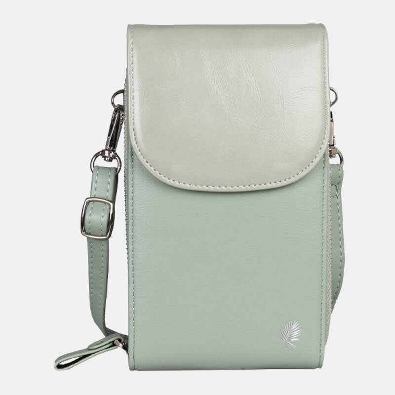 Women 8 Card Slots Phone Bag Solid Crossbody Bag