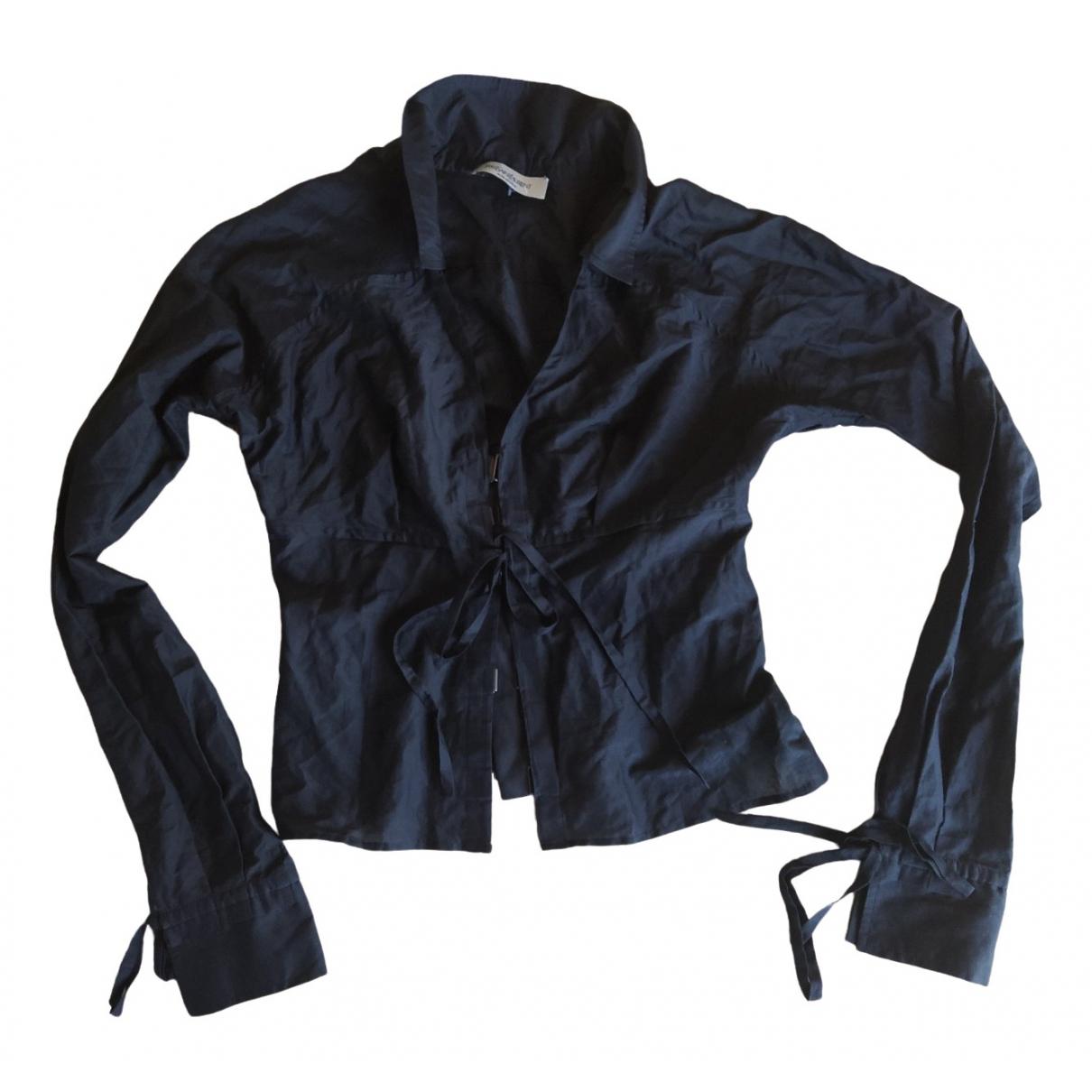 Yves Saint Laurent \N Top in  Schwarz Baumwolle
