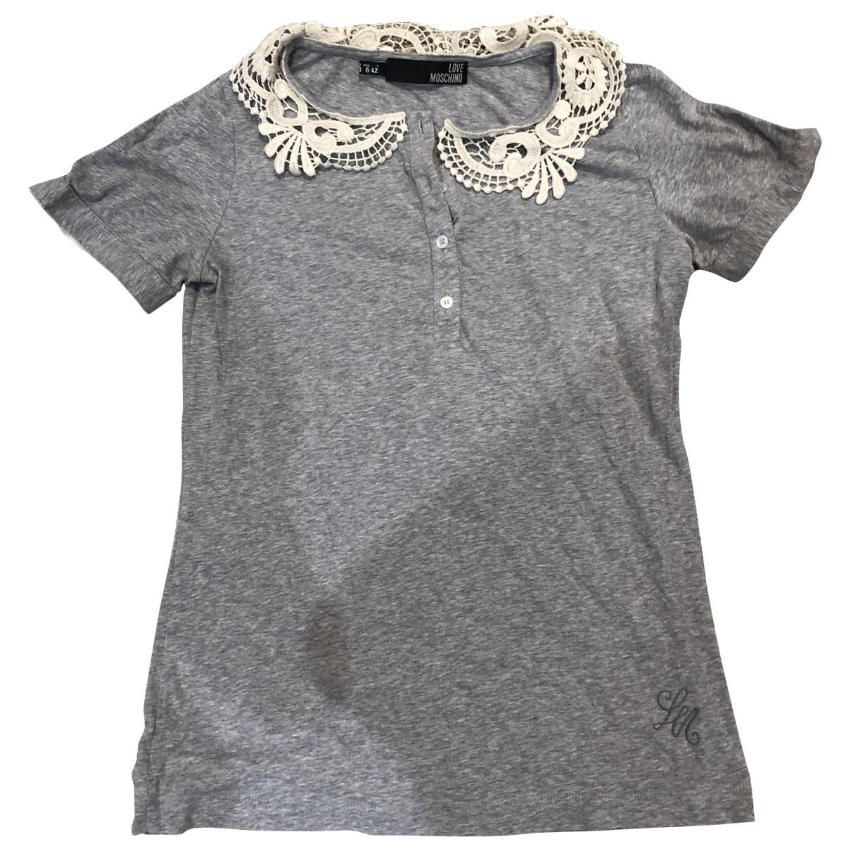 Moschino Love - Top   pour femme en coton - gris