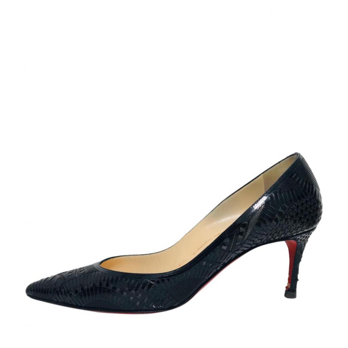 Christian Louboutin \N Black Leather Heels for Women 38.5 EU