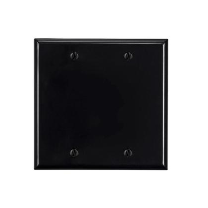 2-Gang Blank Cover Wall Plate - Monoprice® - Black
