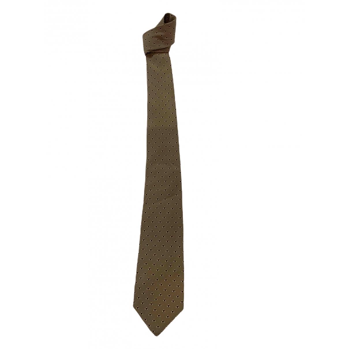 Lanvin - Cravates   pour homme en soie - beige