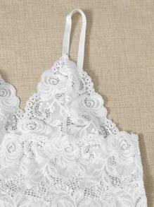 Floral Lace Bralette & Floral Satin Shorts & Pants