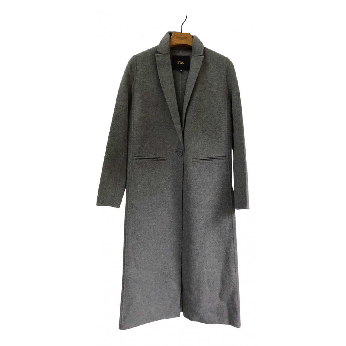 Maje Spring Summer 2019 Grey coat for Women 38 FR