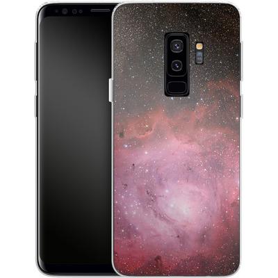 Samsung Galaxy S9 Plus Silikon Handyhuelle - Pink Nebula von caseable Designs