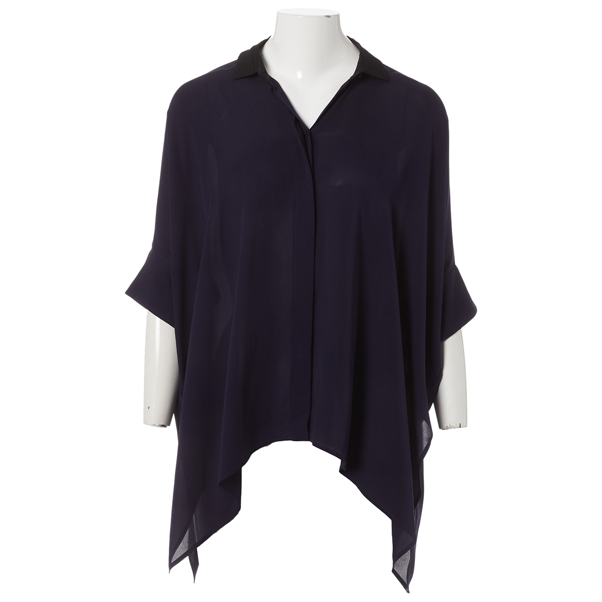 Gucci \N Navy Silk  top for Women 36 IT