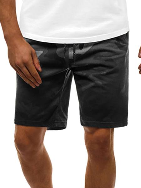 Milanoo Pantalones cortos para hombres Camuflaje Cintura con cordon Verano Ciclismo Pantalones de playa