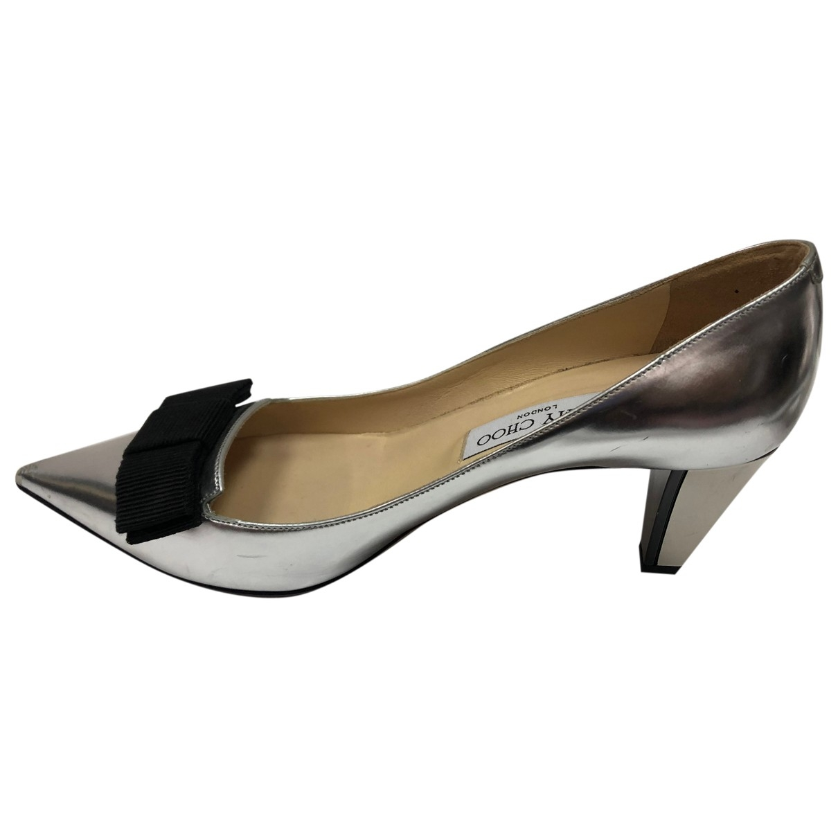Jimmy Choo \N Silver Leather Heels for Women 38 EU