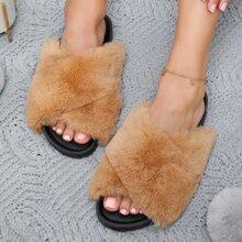 Sandalias de punta abierta con tira cruzada