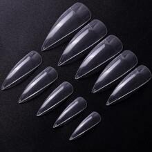 500pcs Clear Stiletto Fake Nail