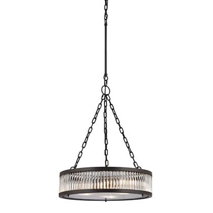 46135/3 Linden Collection 3 Light Pendant in Oil Rubbed