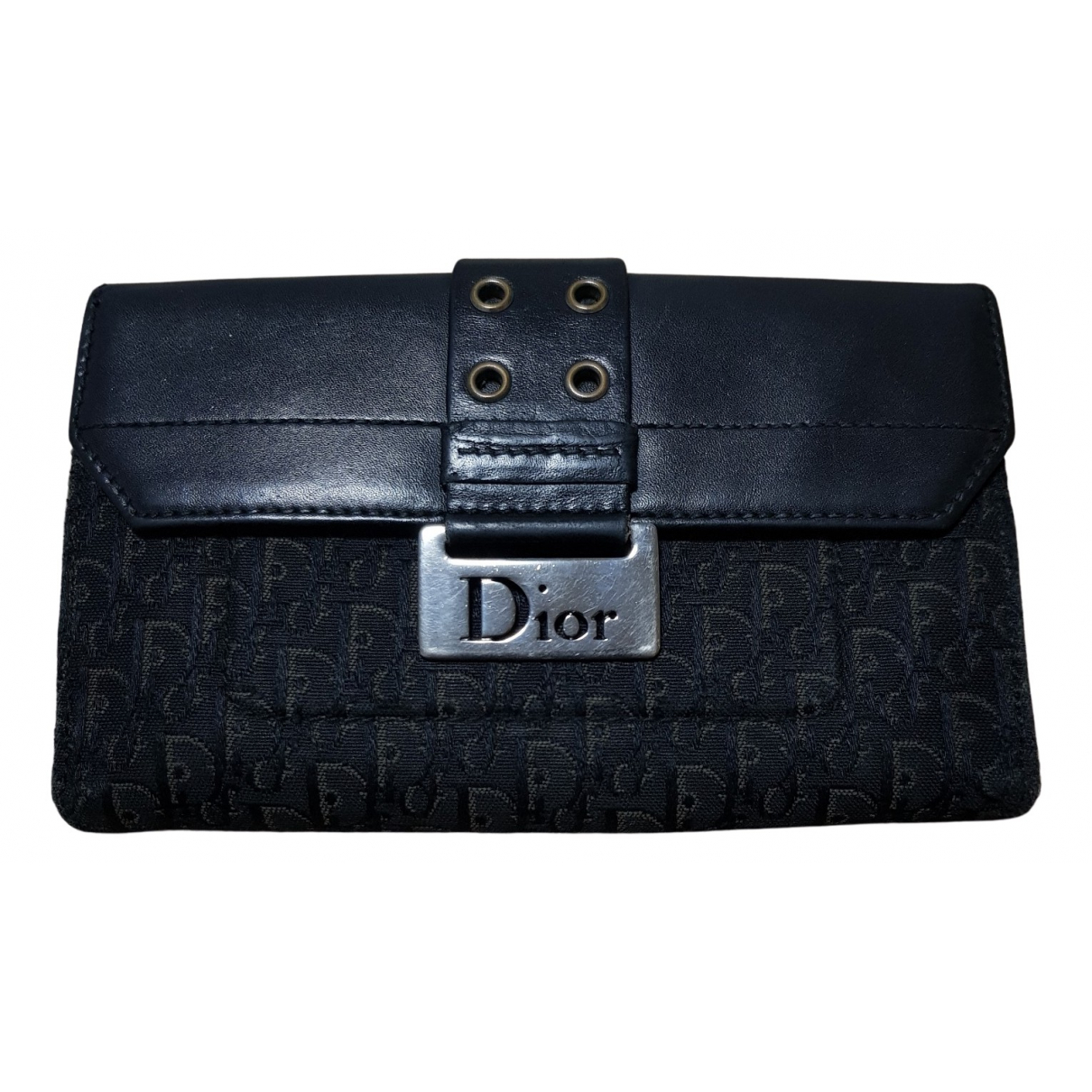Dior - Portefeuille   pour femme en toile - blanc