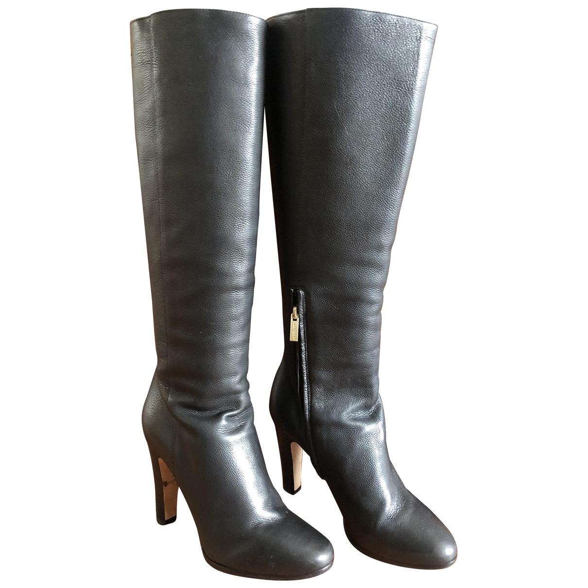 Jimmy Choo \N Black Leather Boots for Women 36.5 EU