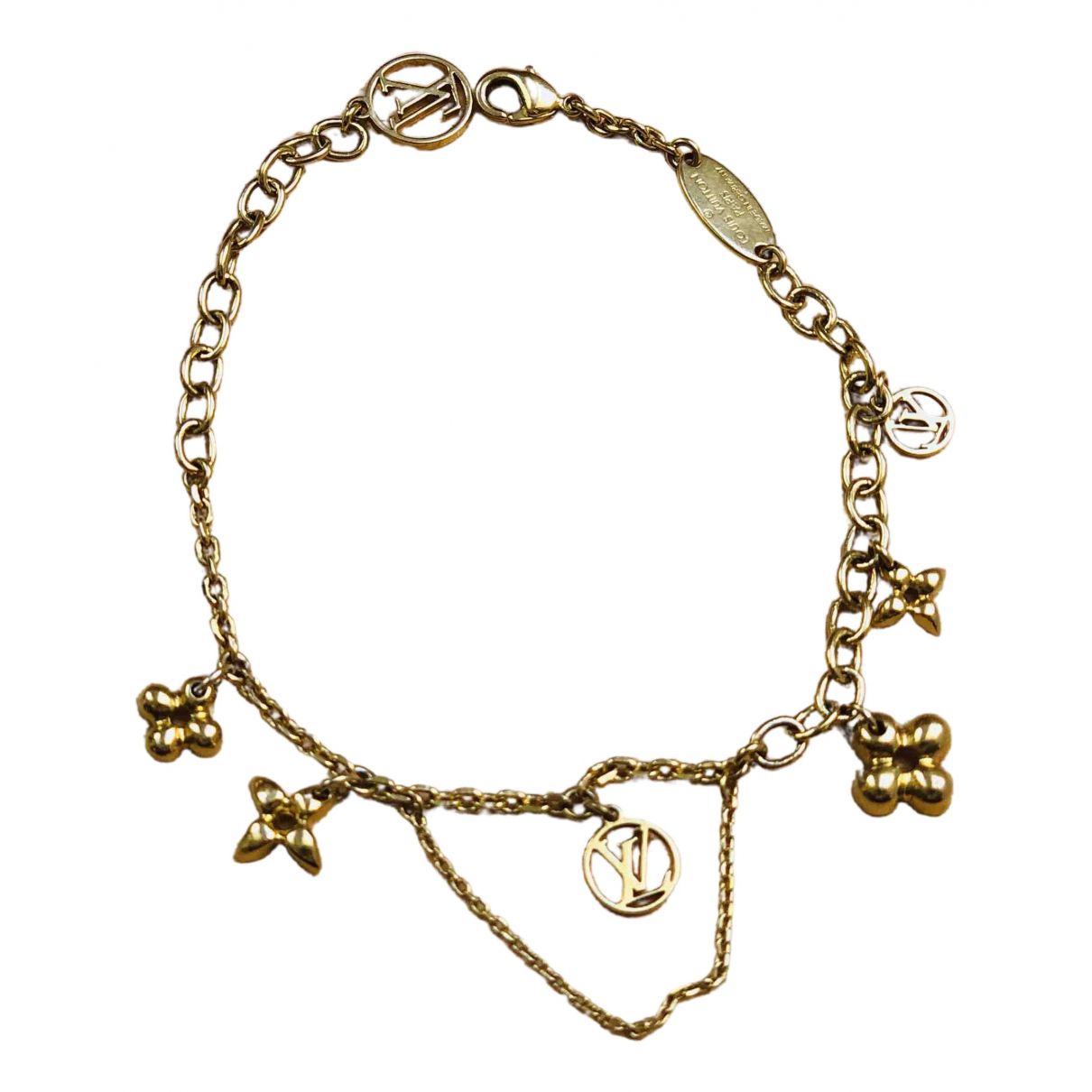 Louis Vuitton N Gold Metal bracelet for Women N