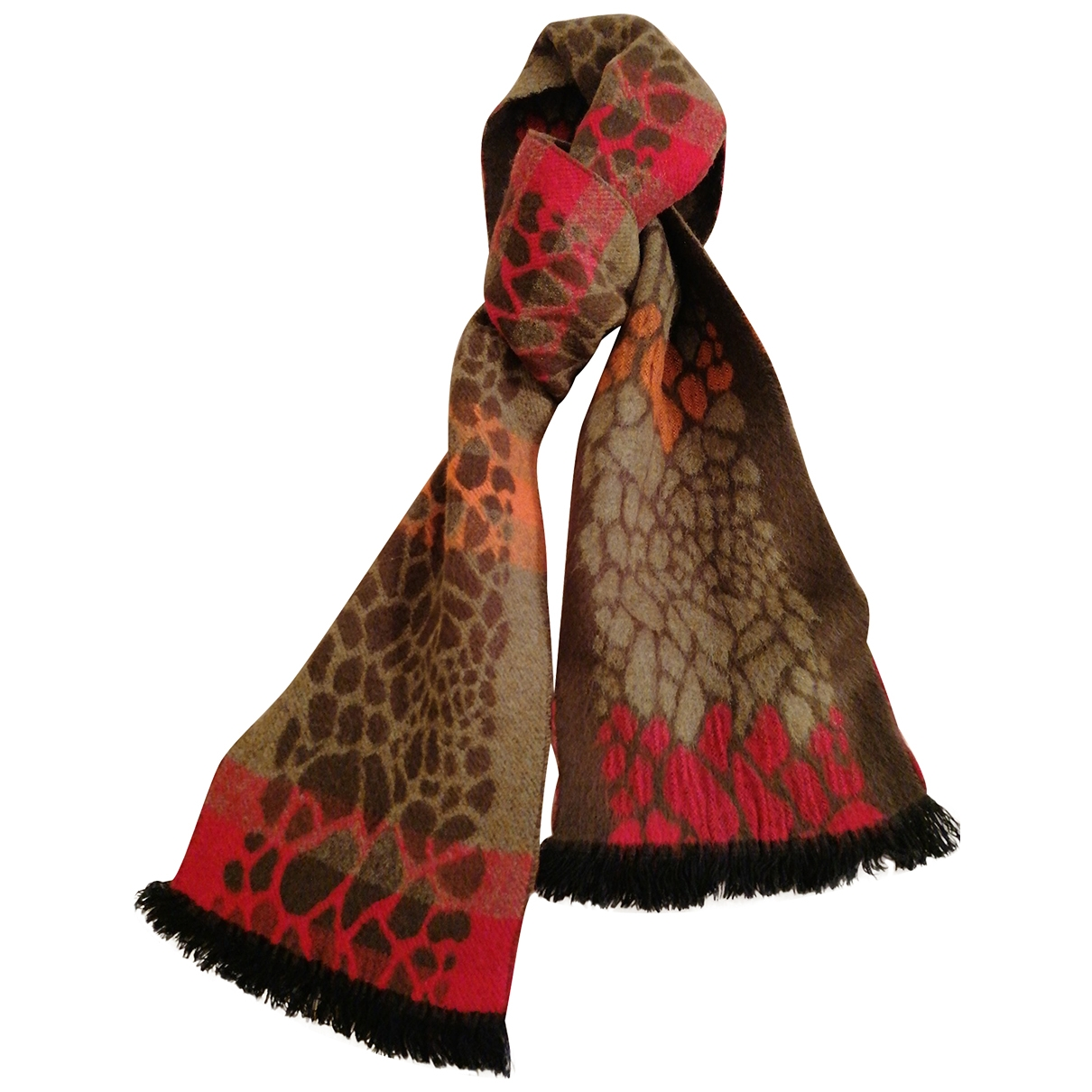 Non Signé / Unsigned \N Brown Cashmere scarf for Women \N
