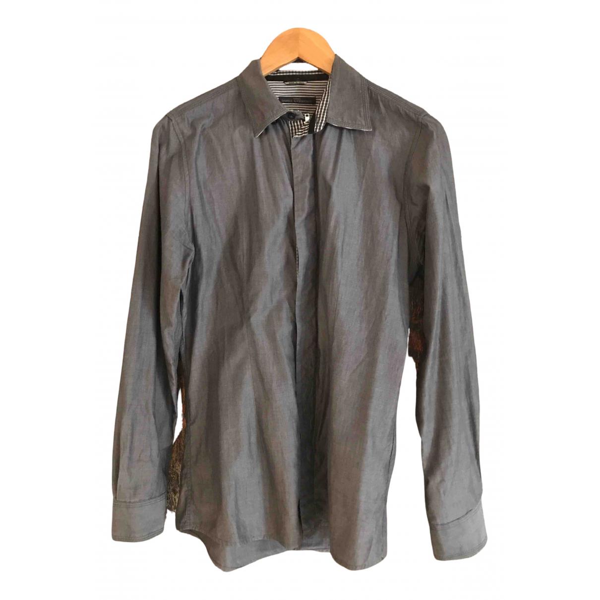 Daniele Alessandrini - Chemises   pour homme en coton - anthracite