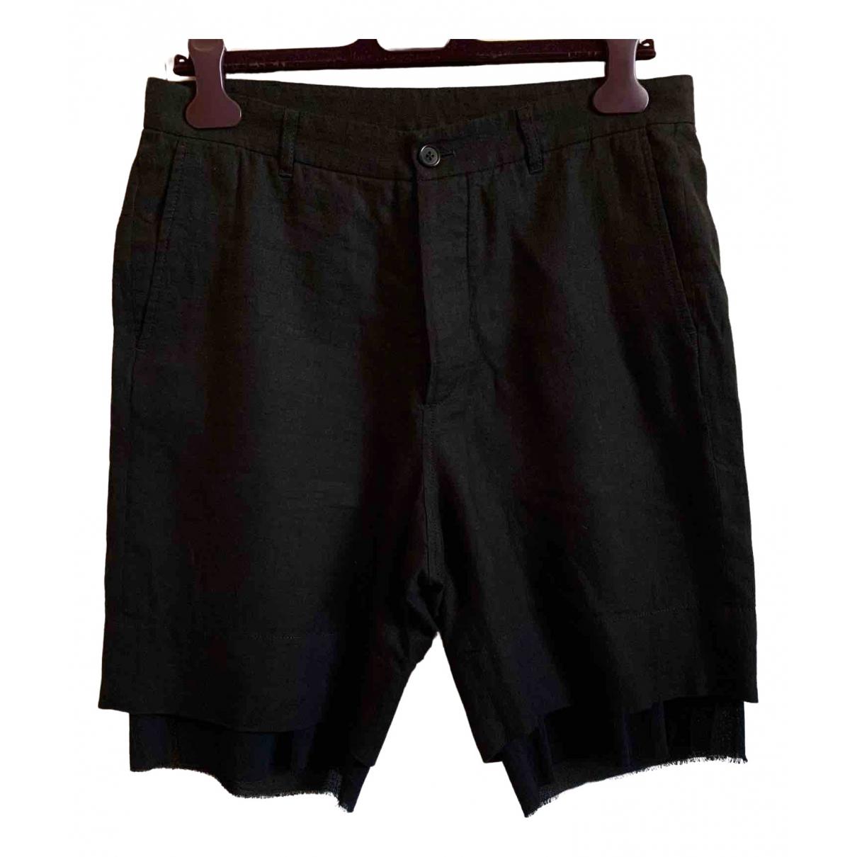 Ann Demeulemeester \N Shorts in  Schwarz Baumwolle