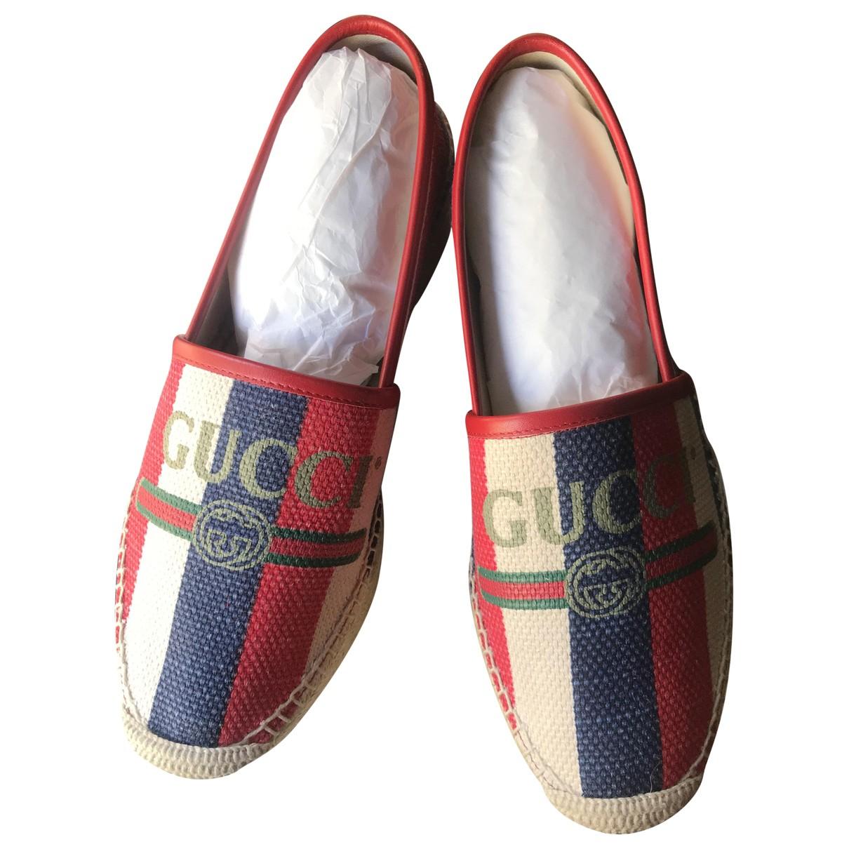 Gucci - Espadrilles   pour femme en cuir - multicolore