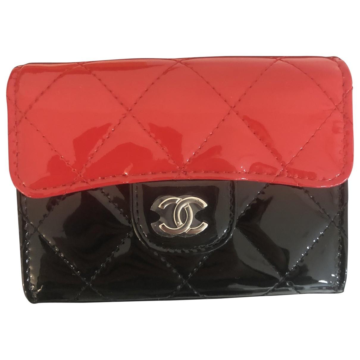Chanel - Petite maroquinerie Timeless/Classique pour femme en cuir verni - noir