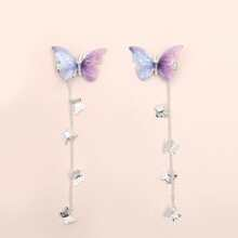 2pcs Butterfly Charm Hair Clip