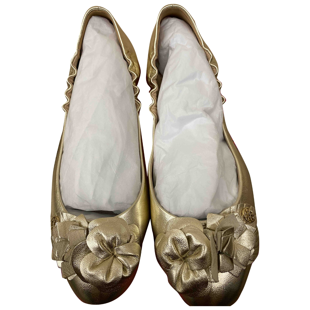 Tory Burch \N Ballerinas in  Gold Leder