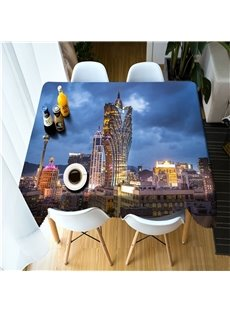 Grand Lisboa Hotel in Macau 3D Home and Hotel Table Runner Cloth Cover