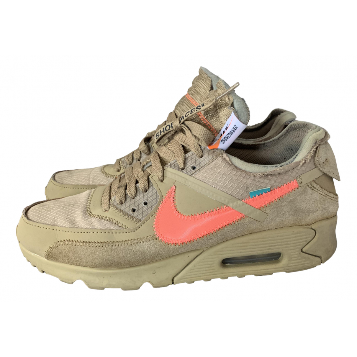 Nike X Off-white Air Max 90 Beige Suede Trainers for Men 9.5 UK