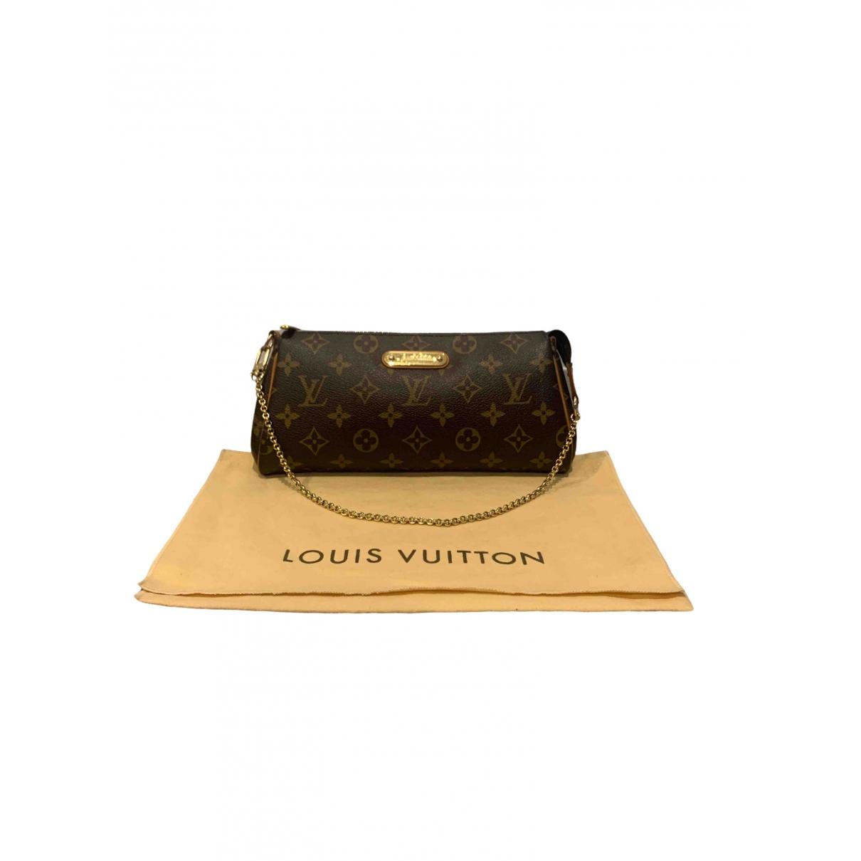 Louis Vuitton Eva Clutch in  Braun Leinen