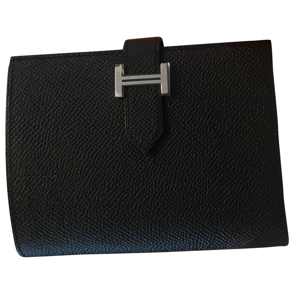 Hermès Béarn Black Leather wallet for Women \N