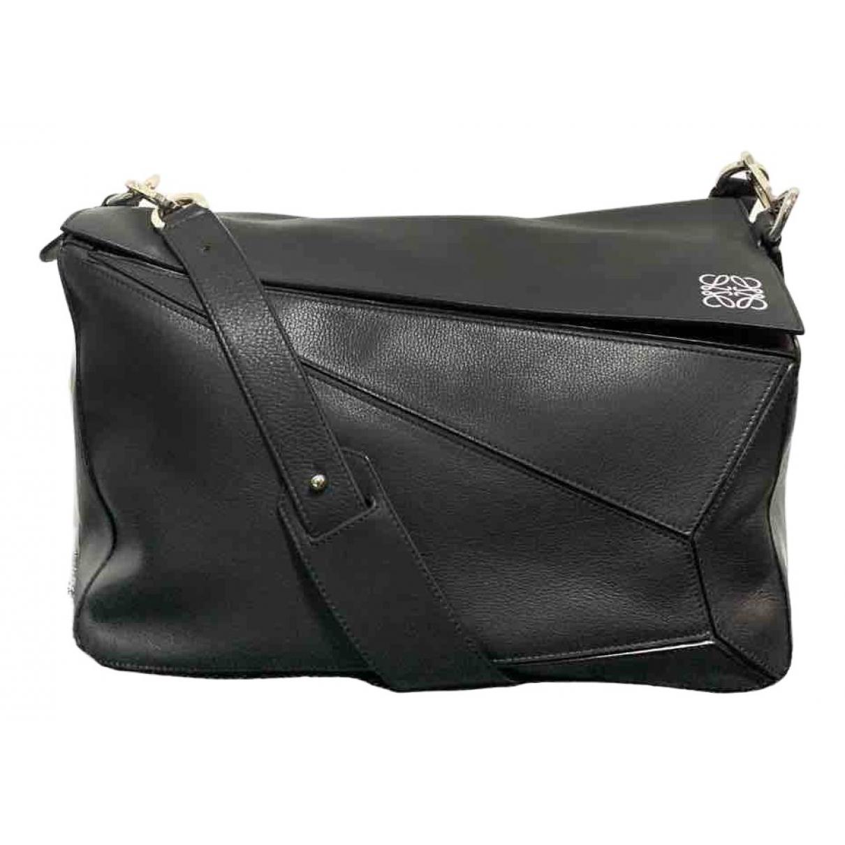 Loewe Puzzle  Black Leather bag for Men \N