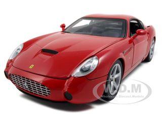 Ferrari 575 GTZ Zagato Red with Luggage in the Trunk 1/18 Diecast Model Car by Hotwheels