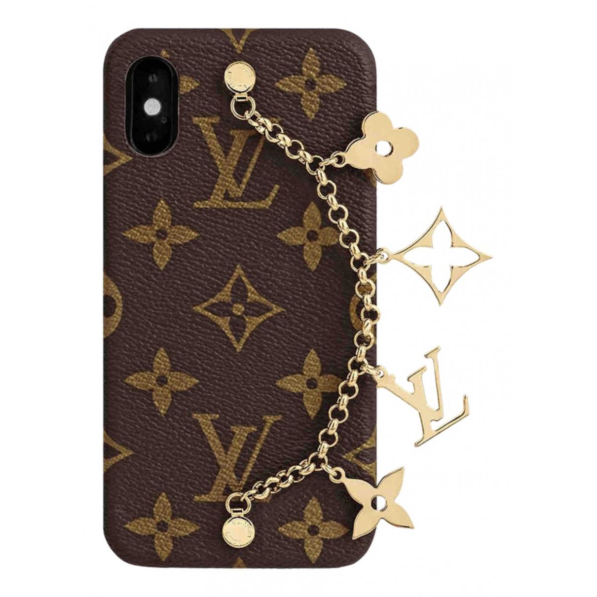 Louis Vuitton \N Accessoires in  Braun Synthetik