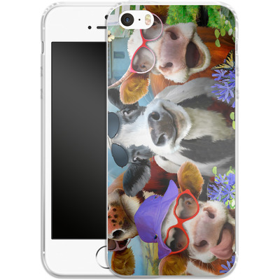 Apple iPhone 5s Silikon Handyhuelle - Udderly Cool Selfie von Howard Robinson
