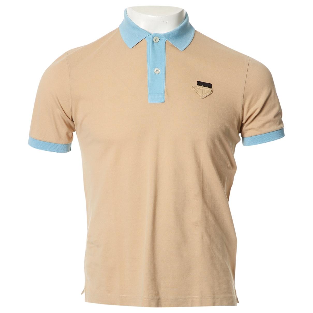 Prada - Tee shirts   pour homme en coton - beige