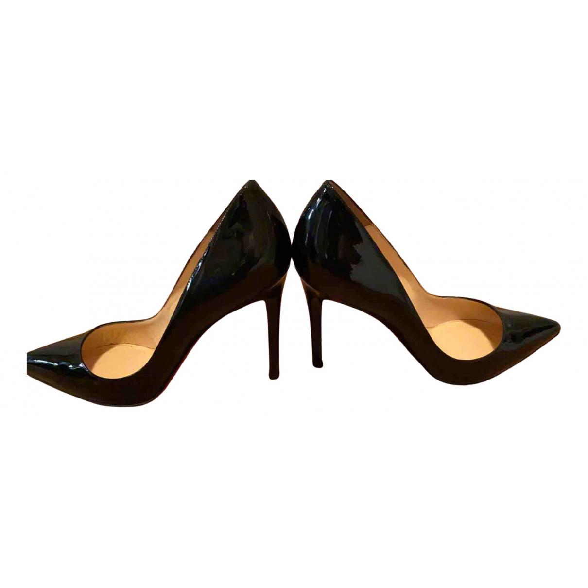 Christian Louboutin - Escarpins Pigalle pour femme en cuir - noir