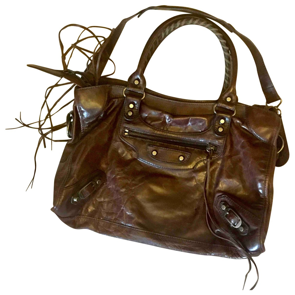 Balenciaga First Brown Leather handbag for Women \N