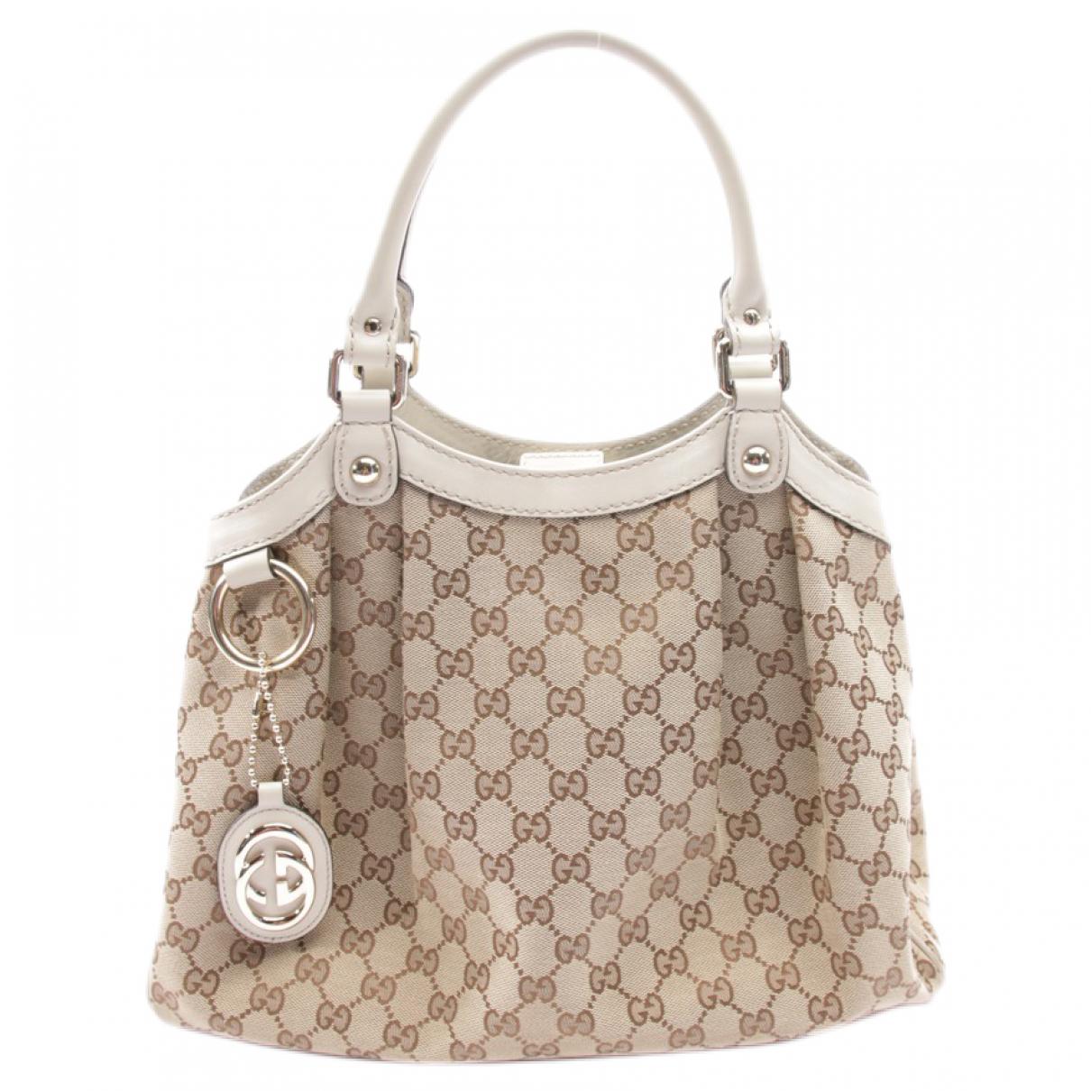 Gucci Sukey Beige Cotton handbag for Women \N