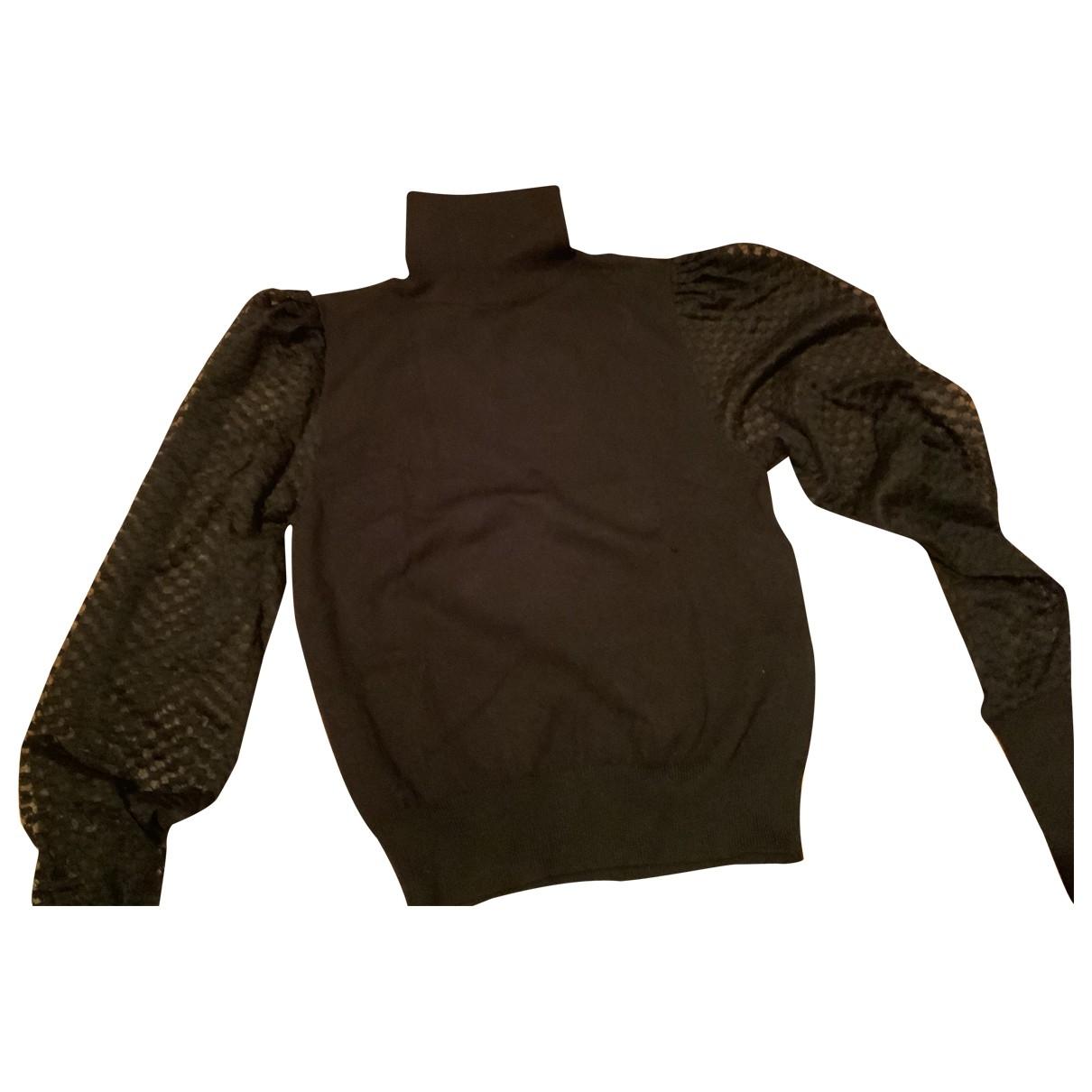 Zara - Pull   pour femme en laine - noir