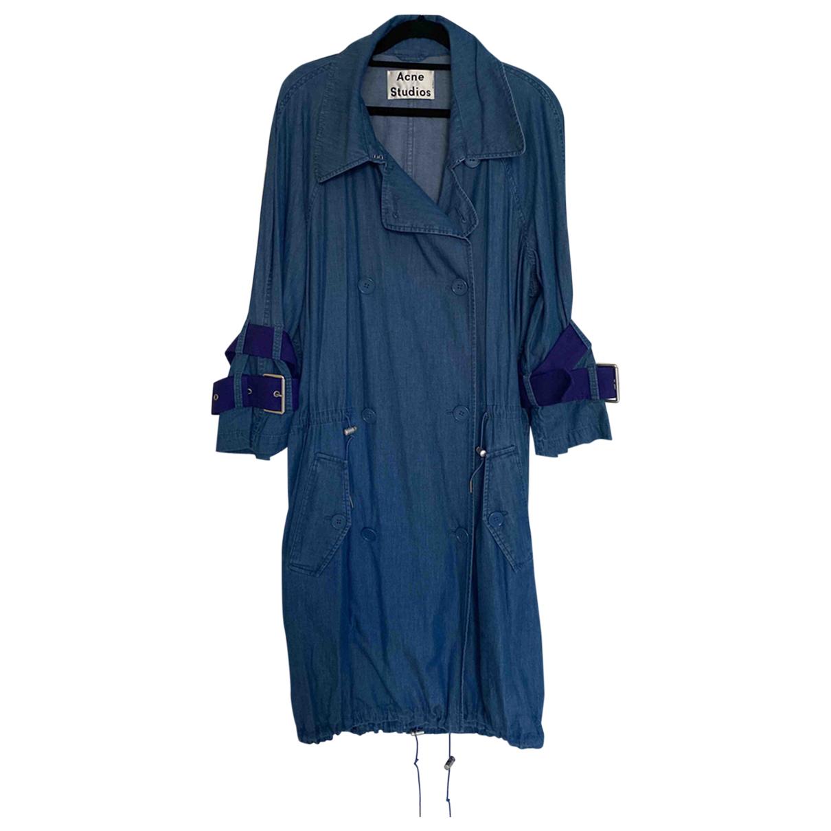 Acne Studios - Manteau   pour femme en coton - bleu