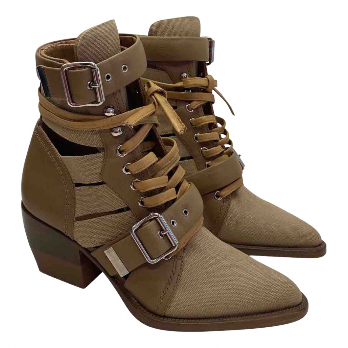 Chloé Rylee Brown Cloth Ankle boots for Women 39 EU