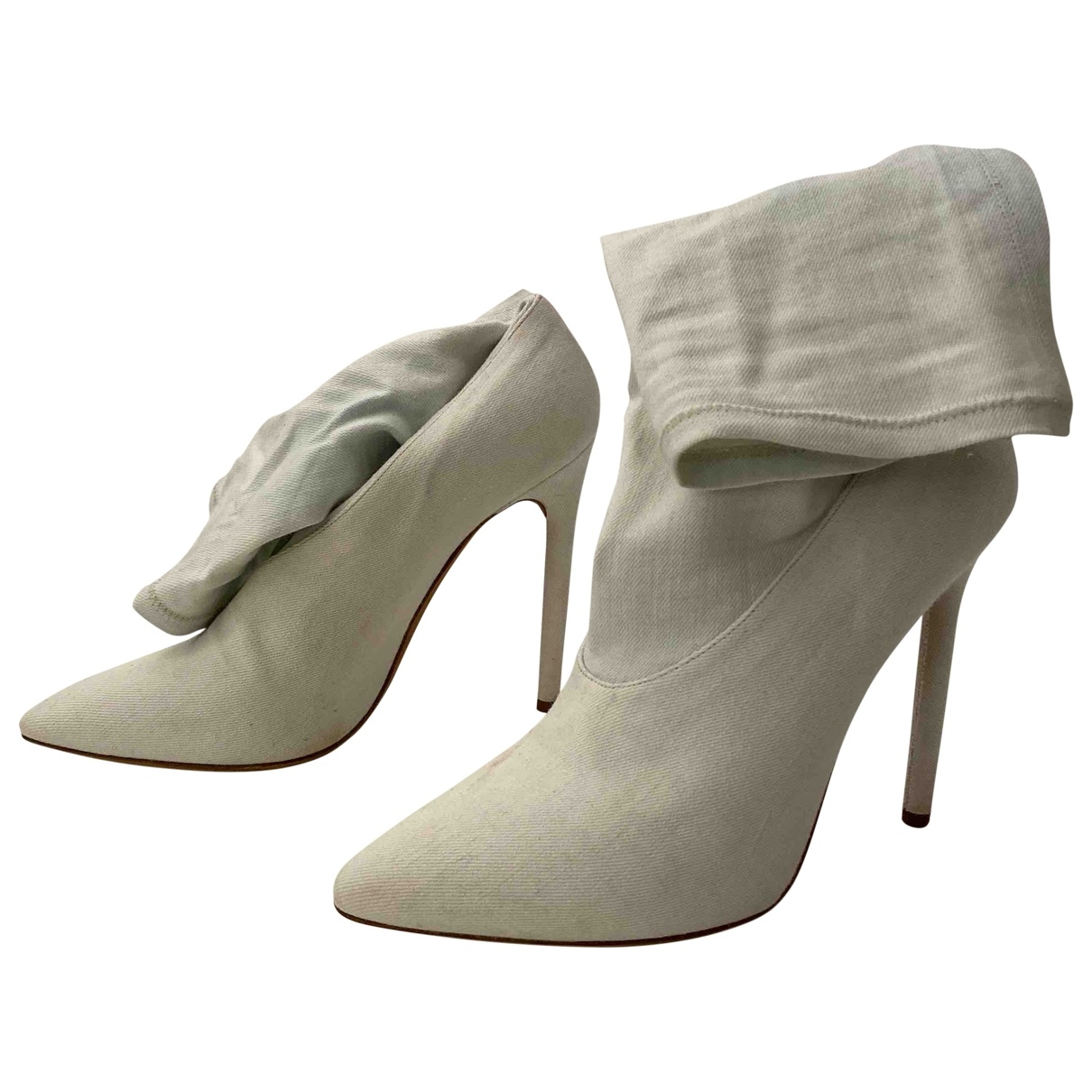 Yeezy \N White Cloth Ankle boots for Women 40 EU