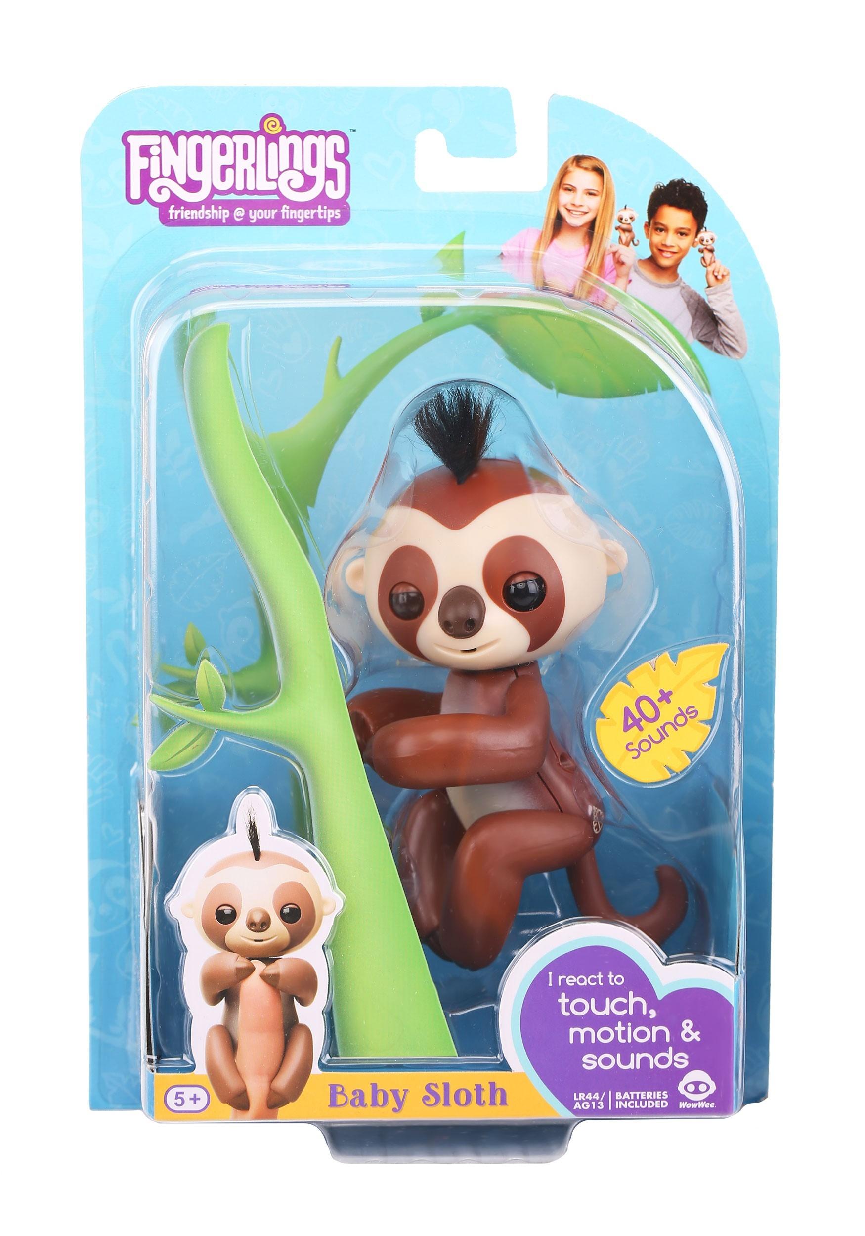 Baby Sloth Fingerlings Kingsley Brown